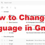 how to change gmail language